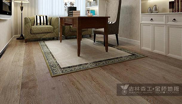 三层实木复合地板——拉丝白纹理(东南亚风格)